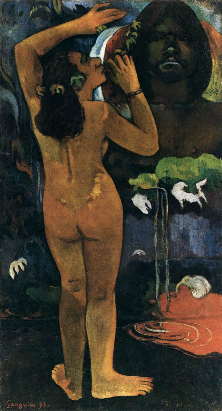 Paul Gauguin, LA LUNA E LA TERRA, 1893, colore ad olio, 1,14 m x 62 cm, MoMA