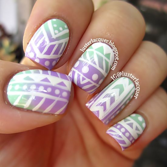 Luster Lacquer: Tribal Print Nails