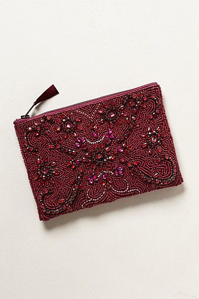 Jeweled Arcadia Pouch #anthropologie
