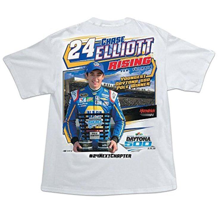 Chase Elliott #24 2016 Daytona 500 Pole Winner T-Shirt (large) - Brought to you by Avarsha.com
