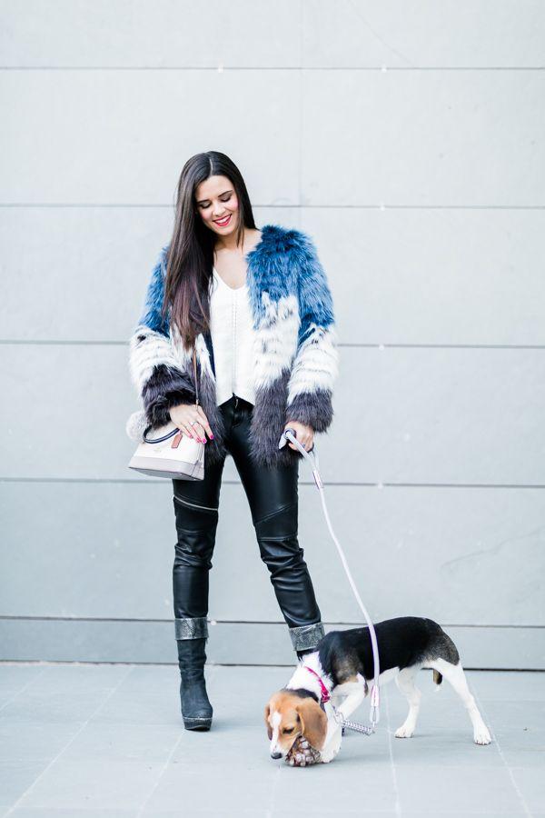 Tricolor fur coat Moda - Crímenes de la Moda