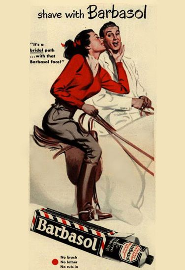 Barbasol Shaving Cream Horseback Riding 1949
