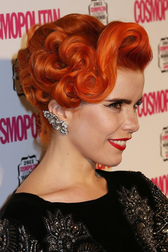Paloma Faith Known for her vintage buns and pin curls marzipan hair #know #bread #curls #below #marzipanhair