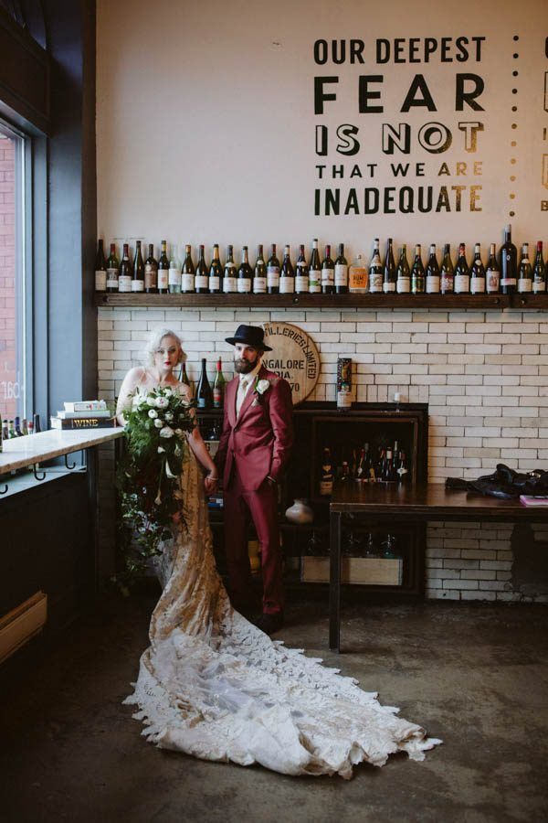 Edgy Pittsburgh Wedding at Bar Marco