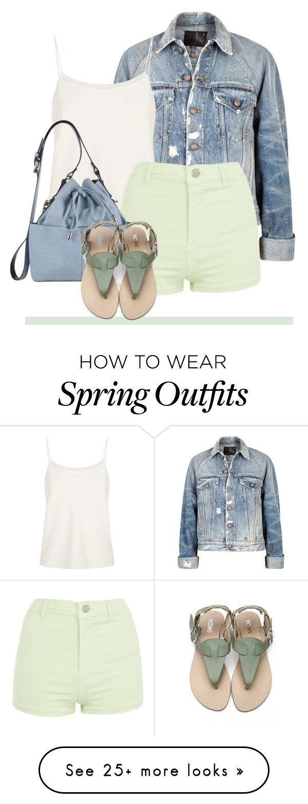 """""""Denim Jacket & Shorts"""" by alaneg-m on Polyvore featuring R13, The Row, Topshop and Miss Selfridge"""