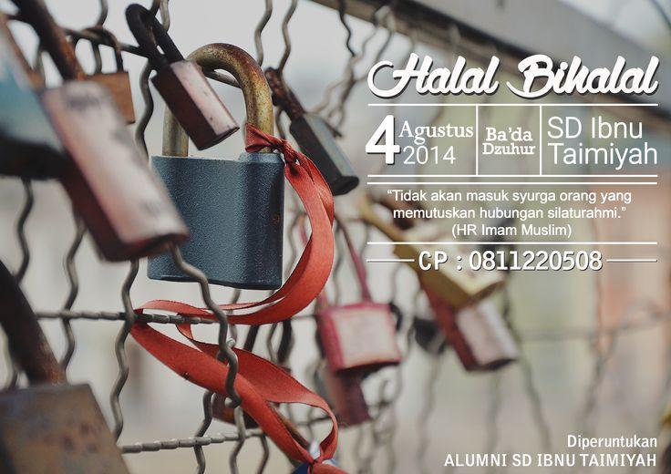 Poster Semarak Ramadhan - Halal Bihalal