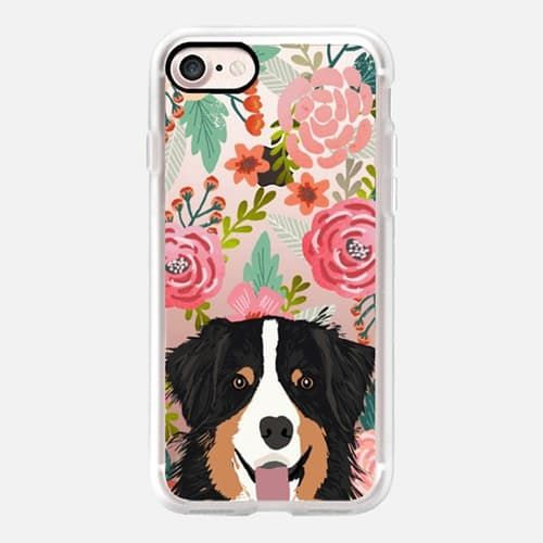 Cute iPhone 7 & 7 Plus Case | Australian Shepherd Floral