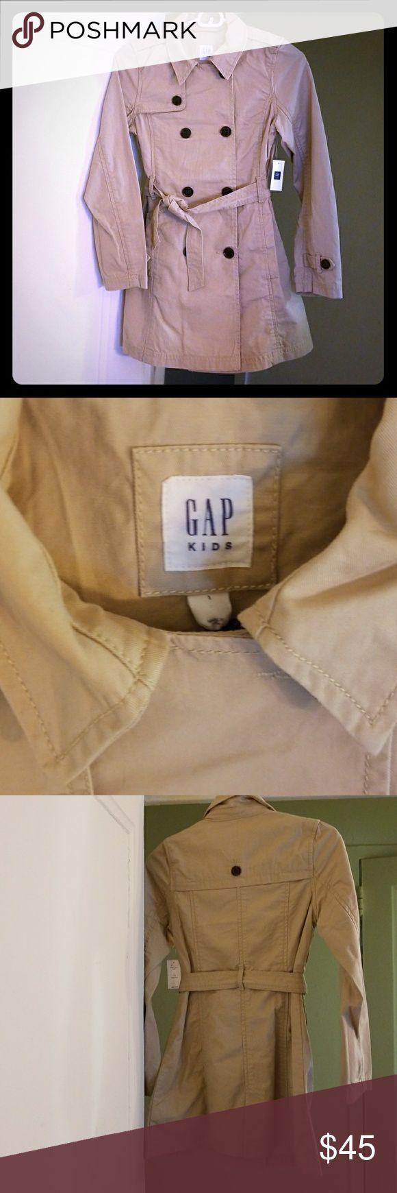 NWT GAP GIRLS TRENCH COAT, SIZE LARGE Brand new beautiful trench coat GAP Jackets & Coats