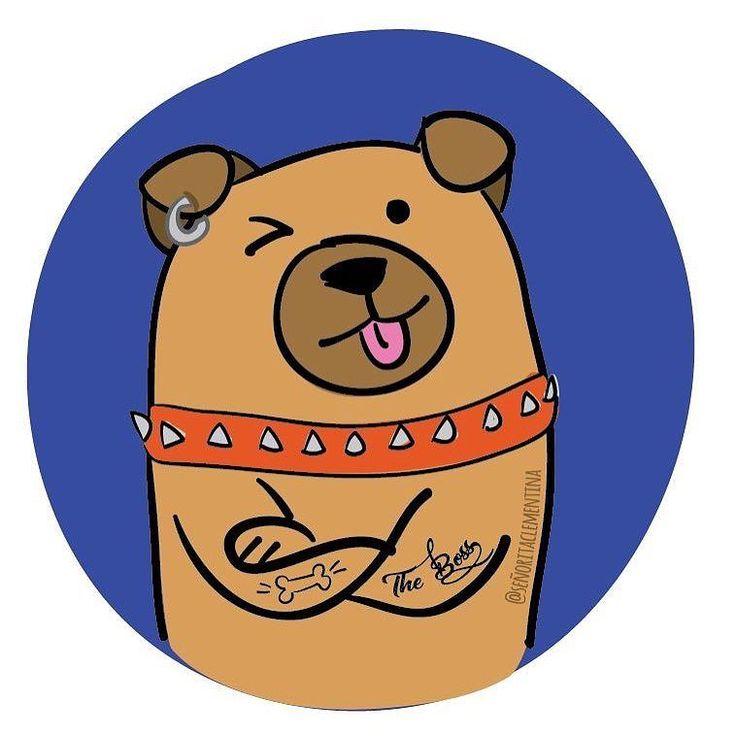"""Yo sé que por aquí hay muchos fans de las mascotas  Que levanten la mano!  Les tengo buenas noticias  ya que me encuentro trabajando en una colección nuevita con esta temática. El motivo es que  en breve vamos a estar en un nuevo punto de venta fabulosísimo y lleno de amor por los animales...más noticias prontito  #puppy #pets #love #perrhijos #animal #love #pug #funny #theboss  Aquí un pequeño avance: él es """"The Boss"""""""