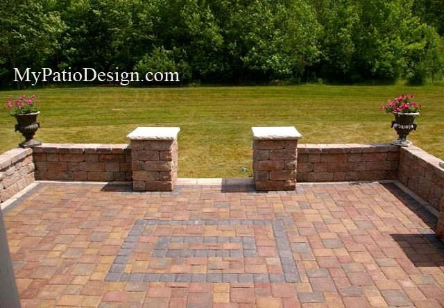 Simple Paver Patio Designs Inspiring Seating Wall Ideas