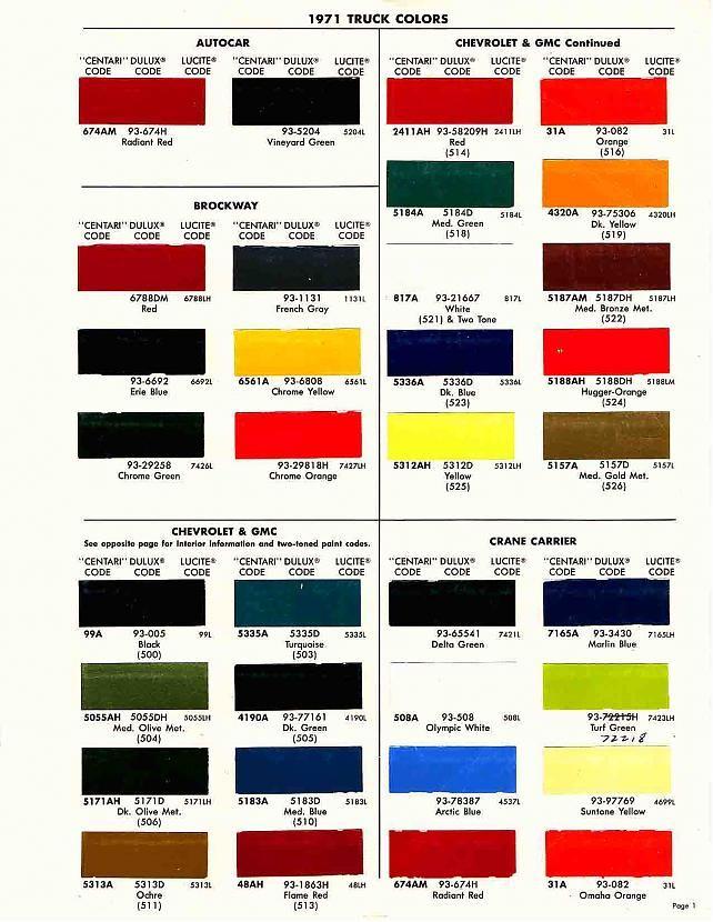 7 best auto paint color charts images on Pinterest ...