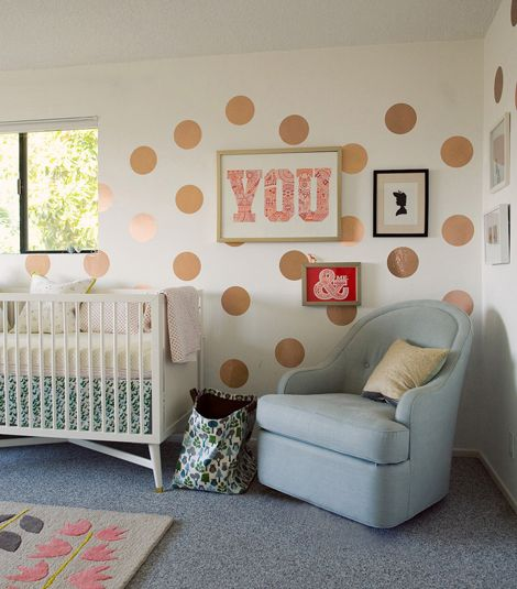 Marion S Coral And Gold Polka Dot Nursery: 310 Best Polka Dot Rooms Images On Pinterest