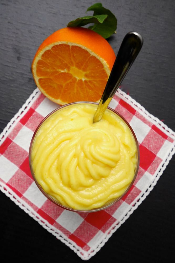 Orange curd - crema all'arancia senza latte