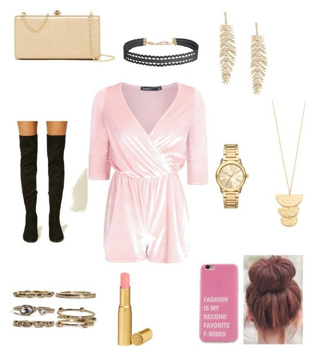 """Hipster chic"" by elenanewman on Polyvore featuring Boohoo, Deux Lux, Forever 21, Gorjana, BCBGMAXAZRIA, Michael Kors, Humble Chic and Too Faced Cosmetics"