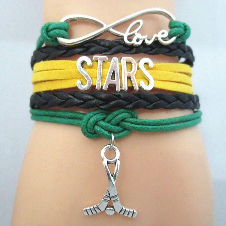 Infinity Love Dallas Stars Hockey Bracelet BOGO
