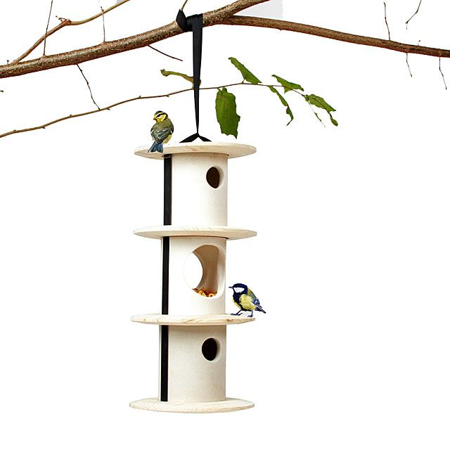 Stackable Birdhouse and Feeder | Birdhouse, Contemporary Bird Feeders | UncommonGoods
