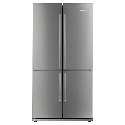 Smeg FQ60XP 4-Door American Style Fridge Freezer, A+ Energy Rating, 90cm Wide, Stainless Steel