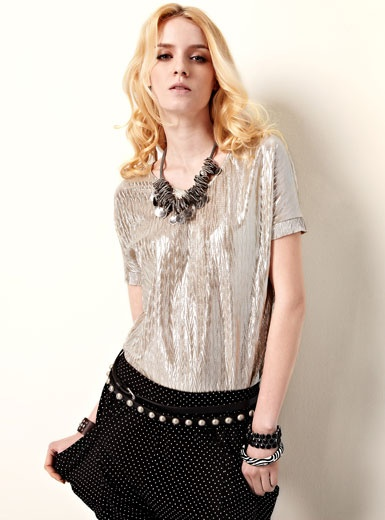 Find it here:http://www.thboxes.com/2013-Europe-Style-Ladies-Shirts-Metallic-Batwing-Sleeve-Shirts-55086  Special Discount: USD$17.88    Time Left To buy: 59 : 45 : 55