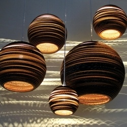 nube green bell light fitting (made of cardboard)
