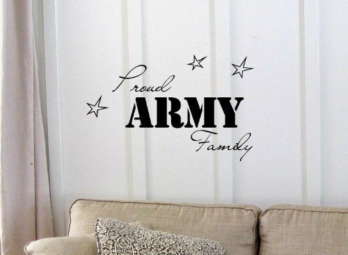 Newsee Decals Proud ARMY Family Vinyl wall art Inspirational quotes and saying home decor decal sticker by «wall graphics,Inc.»