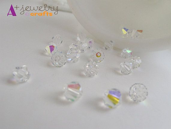 Glass rhinestone beads clear diamond clear by APlusJewelryCrafts $6.25 Glass rhinestone beads, clear, diamond, clear beads, rhinestone beads, glass beads, beading supplies, jewelry supplies, white beads, crystal