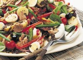 French tuna and bell pepper salad.: Clean Recipes, Salad Recipes, Bell Pepper Salad, French Tuna, Provençal Tuna, Food Salads, Salads Niçoise, Healthy Tuna Recipes, Canned Tuna Recipes