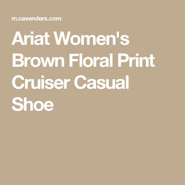 Ariat Women's Brown Floral Print Cruiser Casual Shoe
