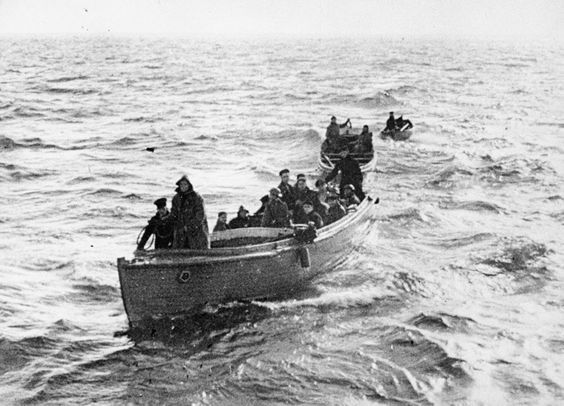 Three of the armada of 'little ships' that joined in the evacuation of troops from Dunkirk.