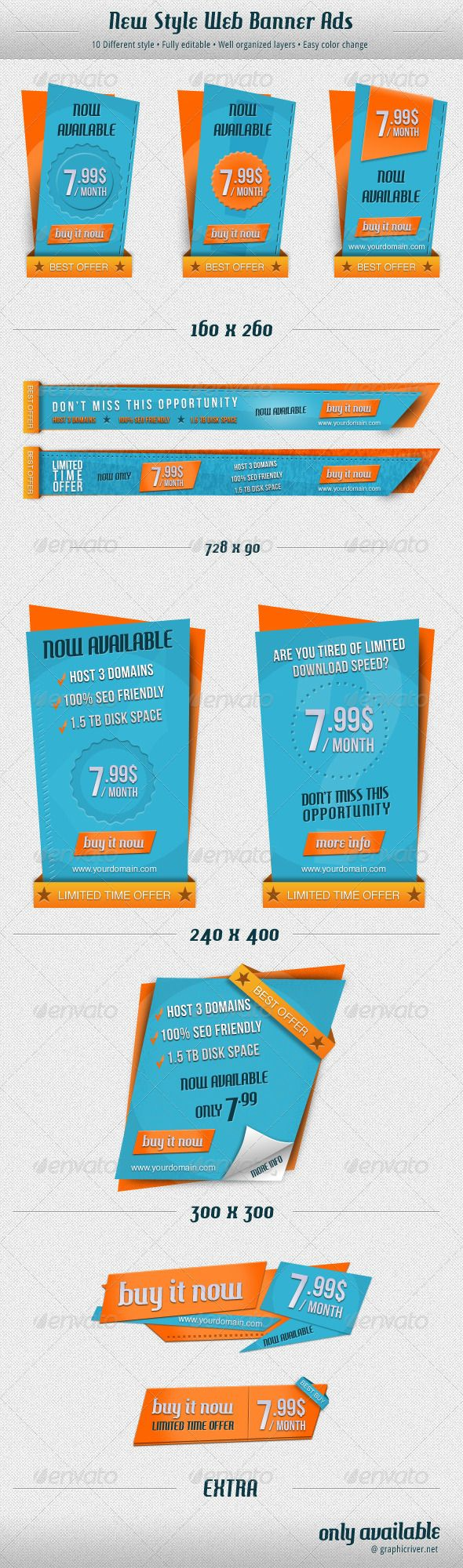 New Style Web Banner Ads