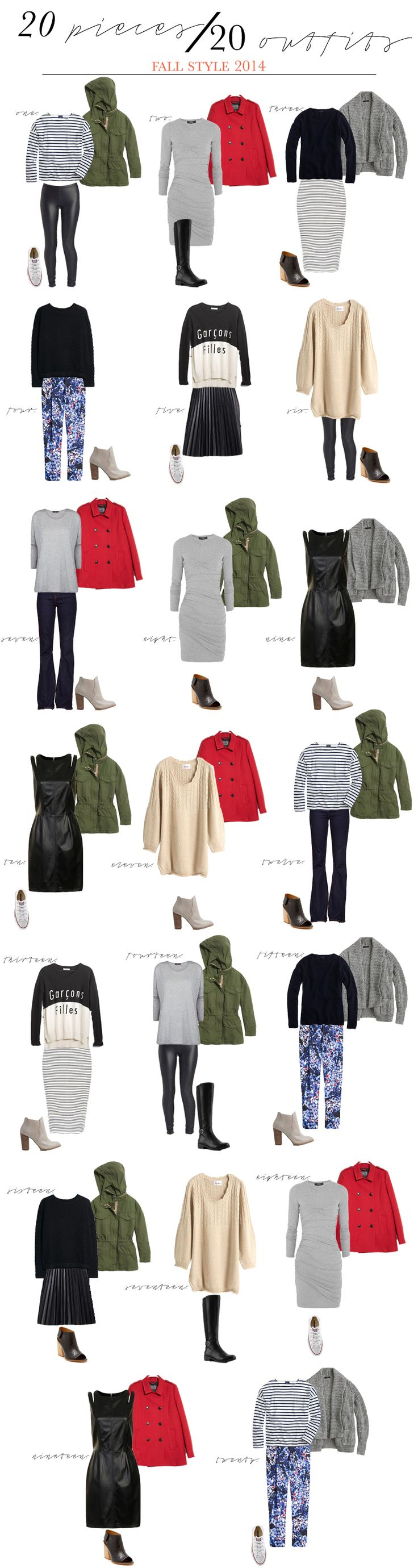 20 Pieces | 20 Outfits Fall Style 2014