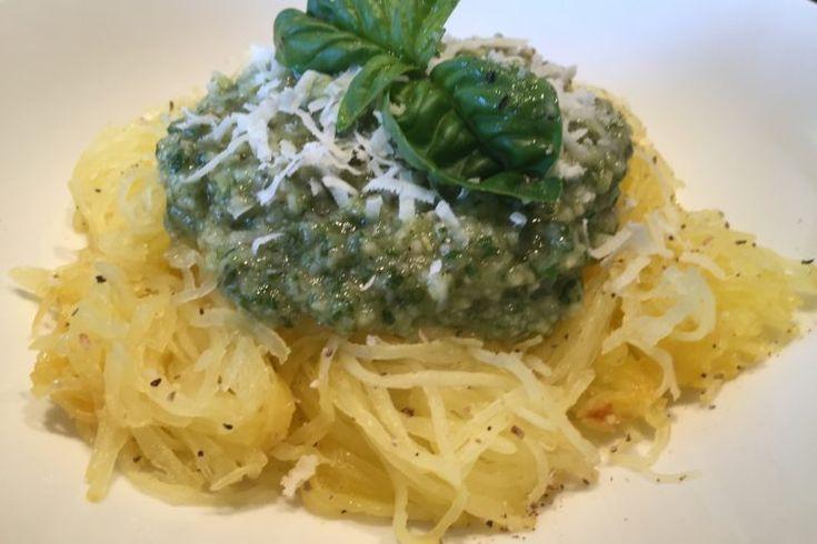 Špagetová dýně s bazalkovým pestem či jinak?