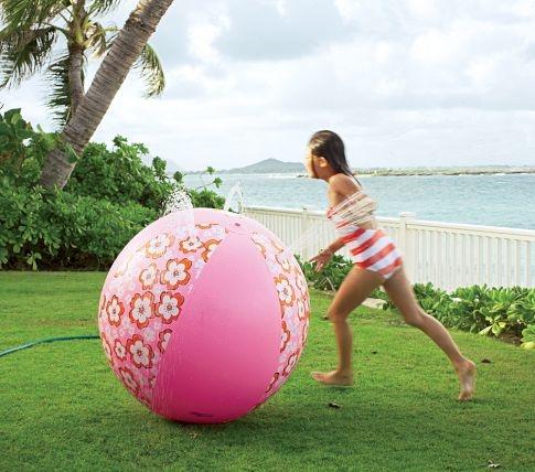 Hibiscus Beach Ball Sprinkler... kids will love this!