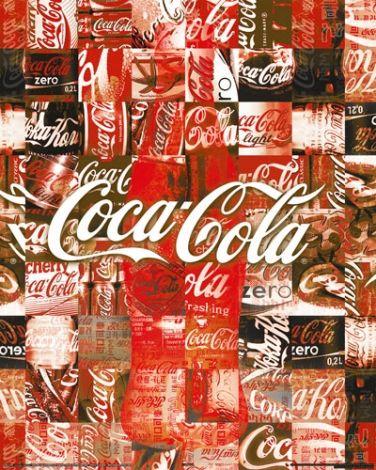Coca-Cola - Patchwork - plakat - 40x50 cm  Gdzie kupić? www.eplakaty.pl