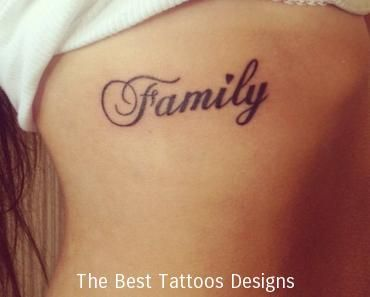Las 25 mejores ideas sobre tatuajes laterales para for Tattoo saying about family