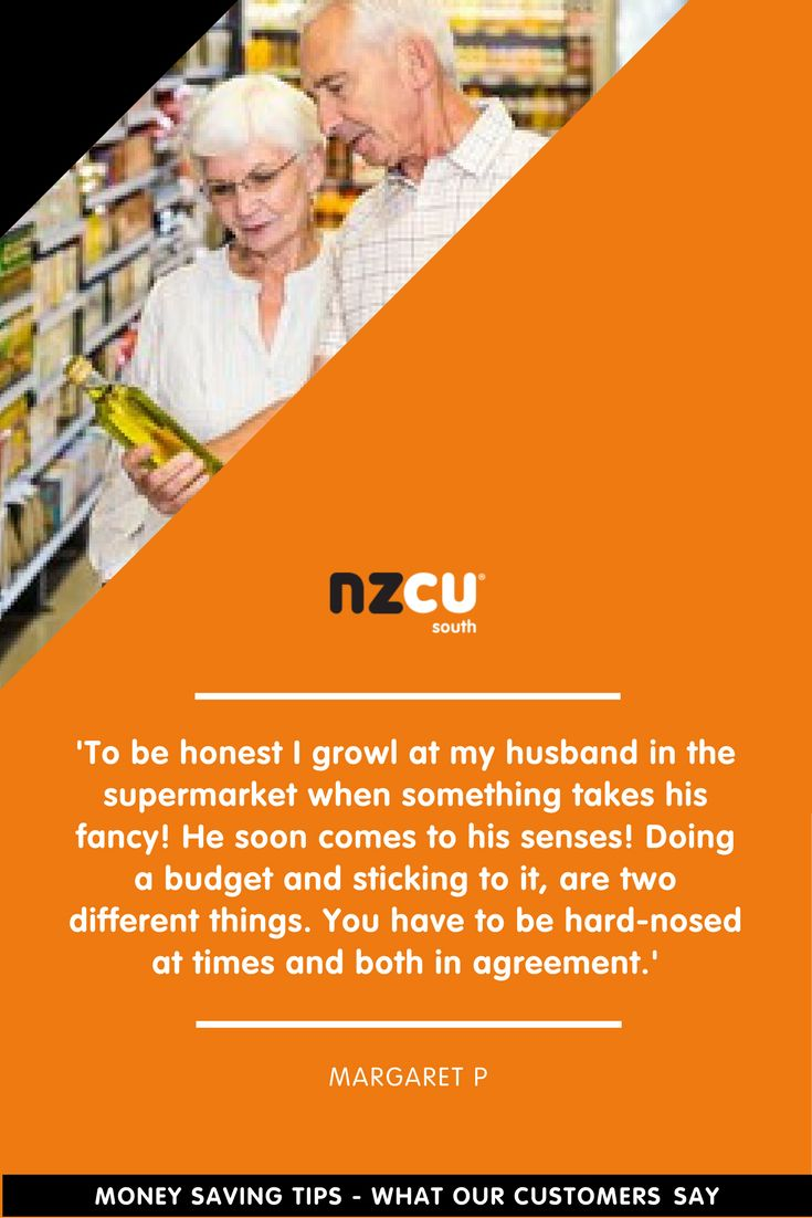'To be honest I growl at my husband in the supermarket when something takes his fancy! He soon comes to his senses! Doing a budget and sticking to it, are two different things. You have to be hard-nosed at times and both in agreement.'