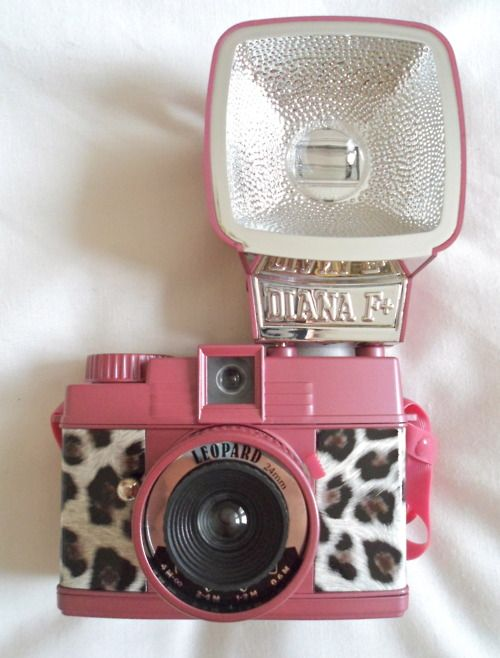 OH MY GOODNESS IF SOMETHING HAD TO BE NAMED AFTER ME THIS WOULD HE IT // pink diana camera flash leopard: