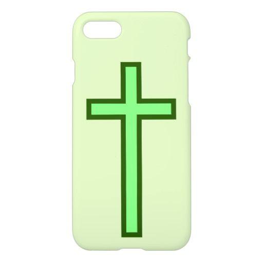 Green-Colored Cross
