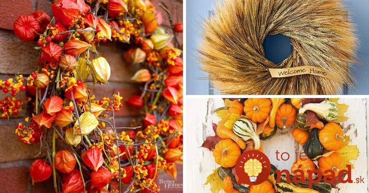 27 krásnych nápadov na jesenné vence, ktoré môžu zdobiť aj váš domov!