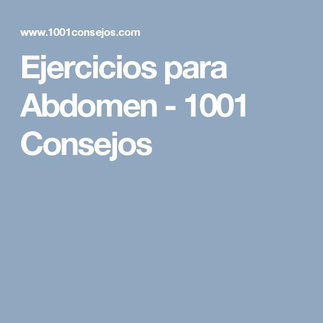 Ejercicios para Abdomen - 1001 Consejos