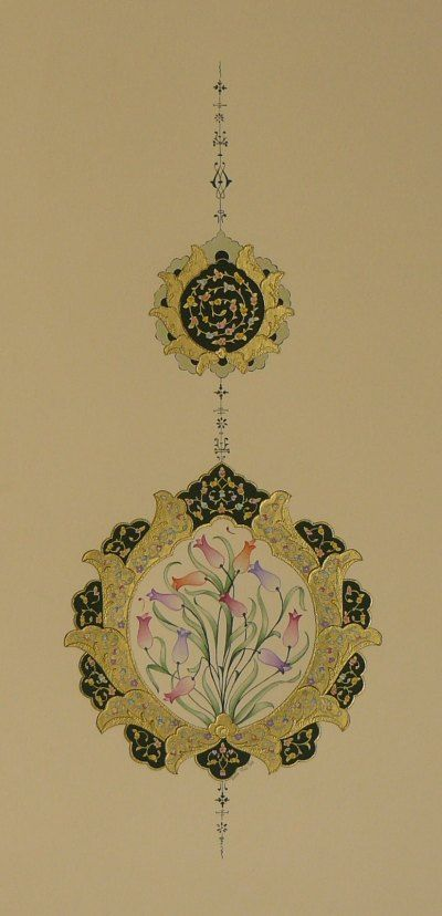 Tezhip (Altın, Guaj )-Emine Süsoy