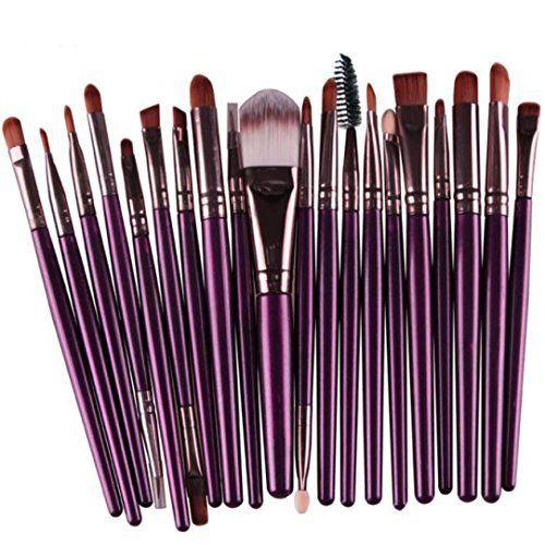 Tefamore 20 pcs pinceau de maquillage outils de maquillage Kit de toilette laine maquillage Brush Set[Violet]: Tweet Description: 100% tout…