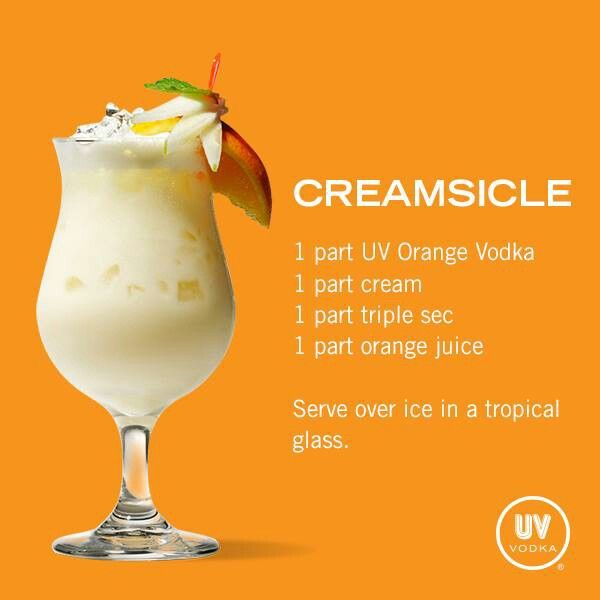 Creamsicle drinky drinks pinterest beverage yummy for Delicious drink recipes with vodka
