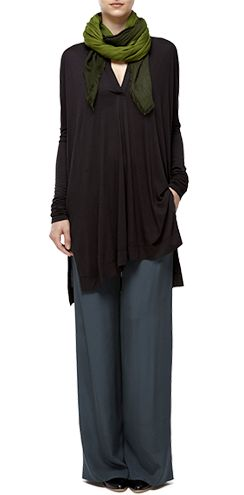 Henley tunic and silk trousers