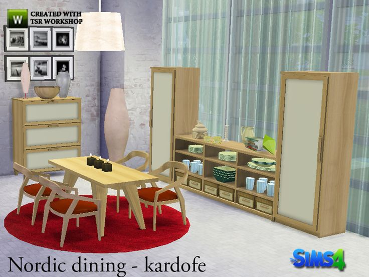 Nordic Style Dining Room With Furniture Made From Natural Materials And Simple Clean Lines