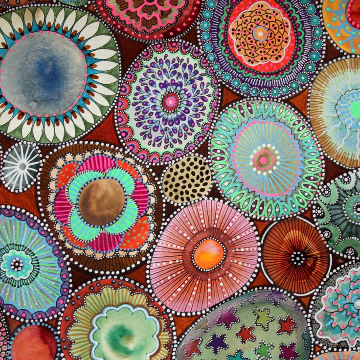 originele abstracte gouache en markeringen van bicocacolors op Etsy