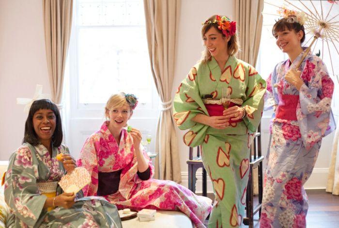 party ideen kimono party japanisches thema