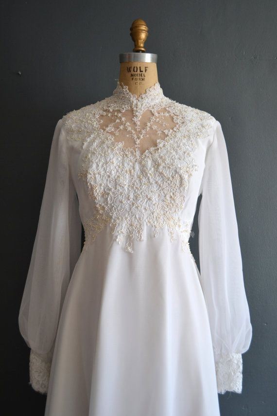 70s wedding dress / 1970s wedding dress / Kerry