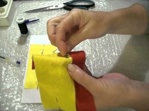 пришиваем подошву на тапки