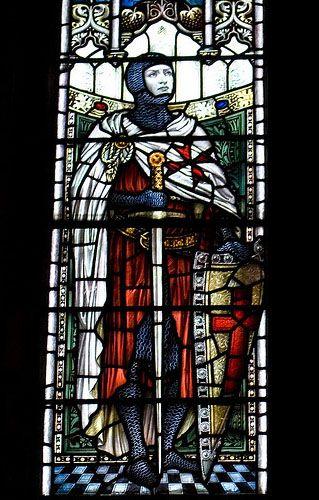 Knights Templar:  #Knight #Templar stained-glass window.