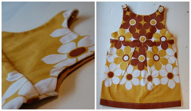 Vintage tablecloth made into a dress